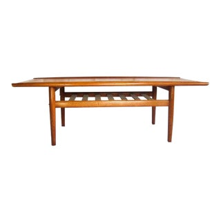 Vintage Mid Century Danish Teak Coffee Table For Sale