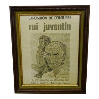 Rui Jeventin Framed Exhibition Poster For Sale