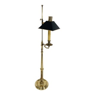 1970s Chapman Solid Brass Floor Lamp For Sale