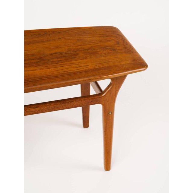 Brown Pair of Danish Modern Teak Side Tables in the Style of Poul Jensen For Sale - Image 8 of 11
