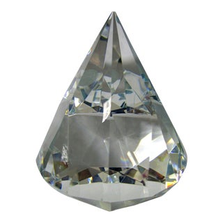 Vintage Tiffany & Co. Prism Faceted Crystal Diamond Paperweight For Sale