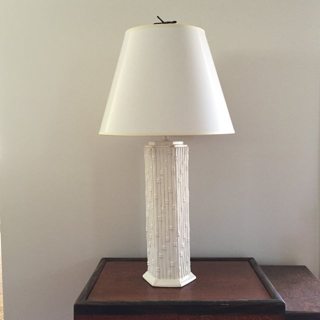 Faux Bamboo Table Lamp - Image 2 of 3