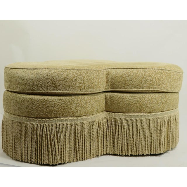 Fringed Cloverleaf Ottoman by Hickory Furniture For Sale - Image 9 of 12