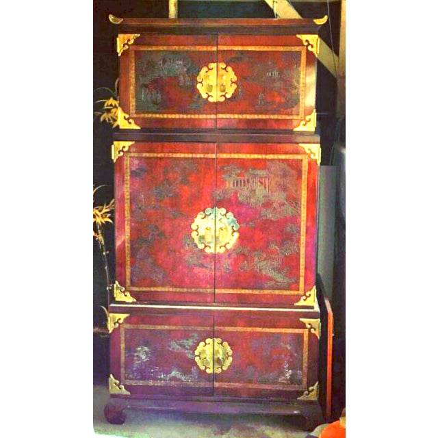 """Pretty Woman"" Movie Set Drexel Asian Armoire - Image 2 of 8"