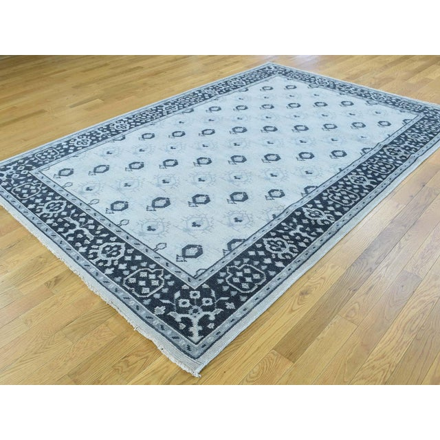 Shahbanu Rugs Hand-Knotted Wool Turkish Knot Oushak Cropped Rug- 9′2″ × 11′10″ For Sale - Image 4 of 12
