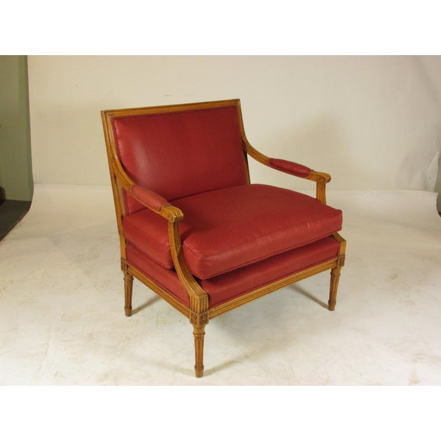 French Louis XVI Style Marquis Chairs - a Pair For Sale - Image 3 of 10