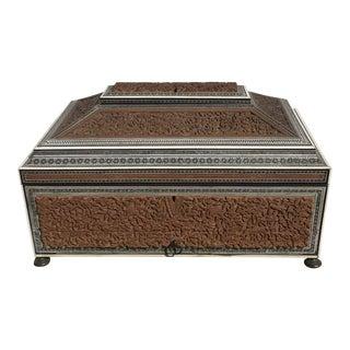 Tomlinson Anglo Indian Carved Sandlewood Work Box