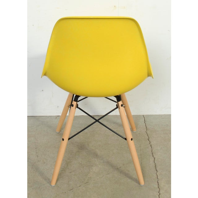 Plastic Eames for Herman Miller Yellow Fiberglass Chair For Sale - Image 7 of 9