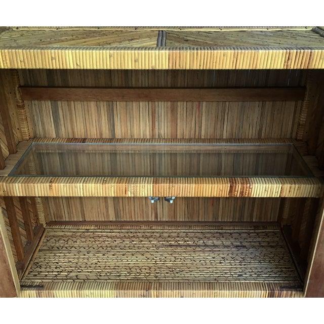 Vintage Split Bamboo Cabinet - Image 3 of 3