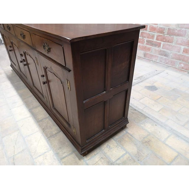Early 20th C. French Country Oak Sideboard Credenza Buffet Server For Sale In New York - Image 6 of 13