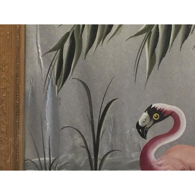 Hollywood Regency Flamingo Art - Image 3 of 6