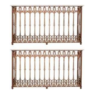 Mid 19th Century French 19th Century Iron Consoles - a Pair For Sale