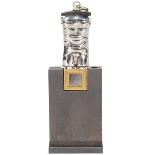 Berrocal Micro David Sculpture Pendant on Rare Original Stand For Sale