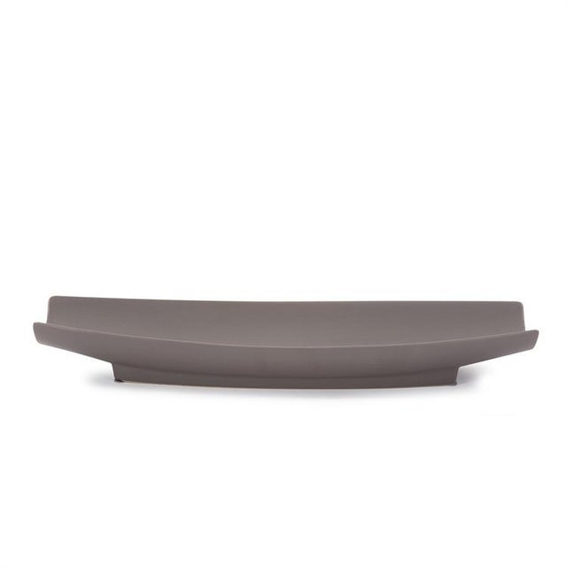 Ceramic Kenneth Ludwig Matte Gray Ceramic Canoe Tray For Sale - Image 7 of 7