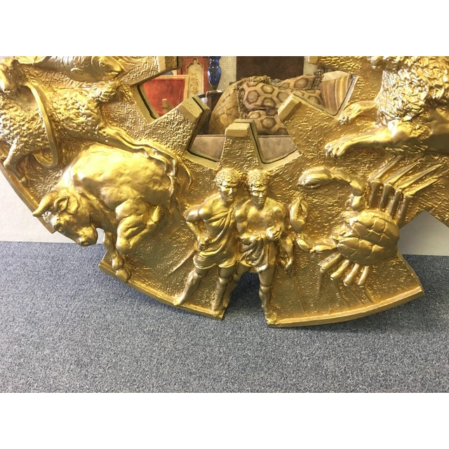 Vintage 1970's Zodiac Figural Mirror For Sale In West Palm - Image 6 of 8