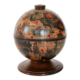 Vintage Italian Old World Globe Ice Bucket For Sale