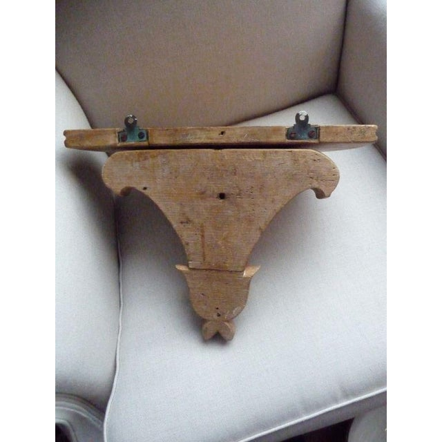 Mid 19th Century 19th Century Carved Pine Wall Bracket For Sale - Image 5 of 7