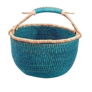 Medium African Bolga Ghana Woven Basket