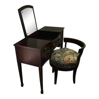 Drexel 1960s Vintage Dressing Table and Stool For Sale