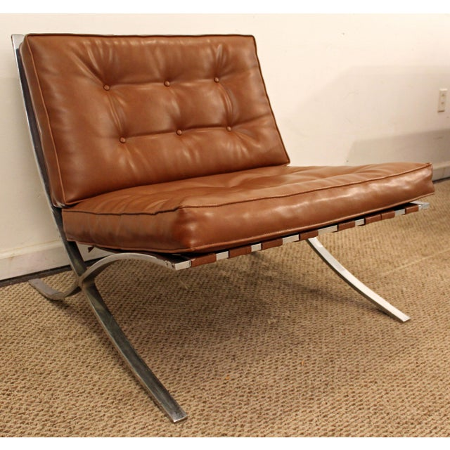 Mid-Century Danish Modern Milo Barcelona Style Chrome Lounge/Accent Chair - Image 2 of 11