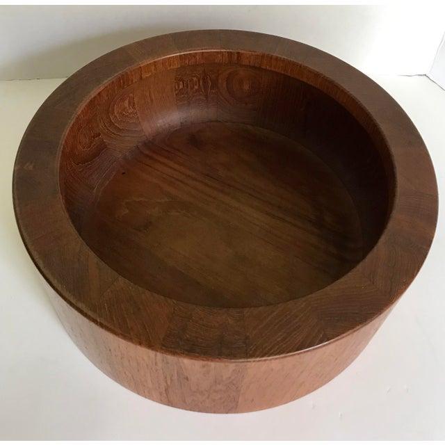 Mid-Century Modern Vintage Dansk Jens Quistgaard Teak Bowl For Sale - Image 3 of 5