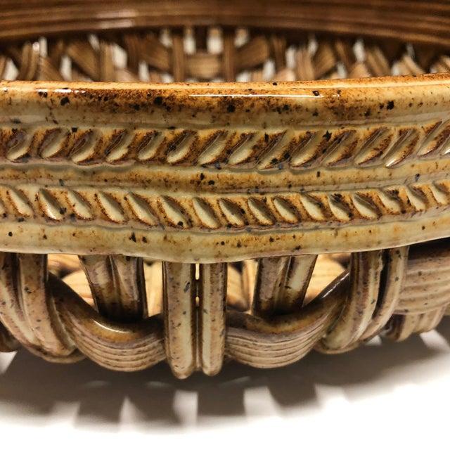 Phil Sellers River Hill Pottery Basket Weave Bowl or Platter For Sale - Image 10 of 13