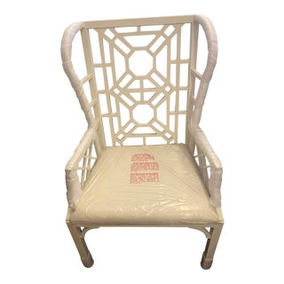 """Lilly Pulitzer Home""""Boulevard"""" Wing Chair For Sale"""