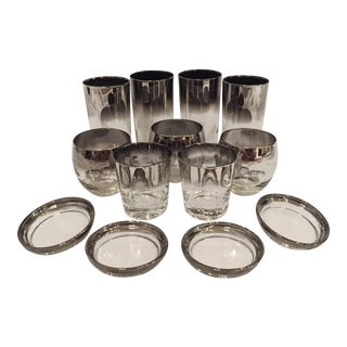 Dorothy Thorpe Mercury Fade Tumbler Mid-Century Modern Glassware - Set of 13 For Sale