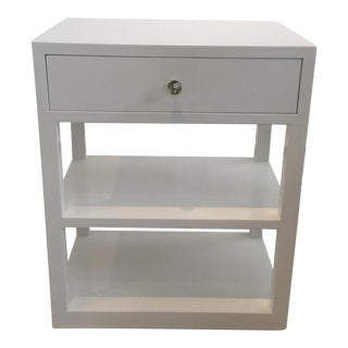 Modern White Side Table/Bedside Table
