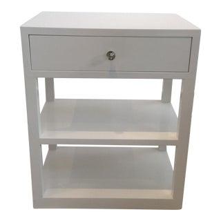 Modern White Side Table/Bedside Table For Sale