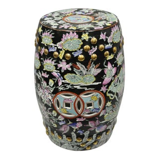 Chinese Oriental Drum Garden Stool For Sale