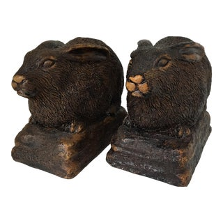 Arts and Crafts Rabbit Bookends - a Pair For Sale