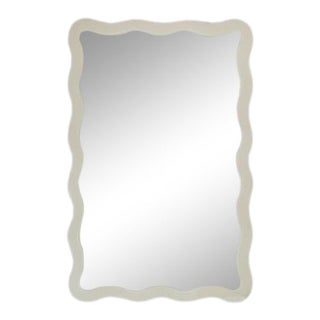 Featured in The 2020 San Francisco Decorator Showcase — Dina Bandman Custom Designed Scalloped Mirror For Sale