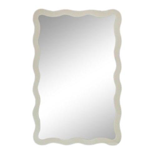Featured in The 2020 San Francisco Decorator Showcase — Dina Bandman Custom Designed Scalloped Mirror For Sale