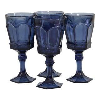 Royal Blue Stemmed Glasses - Set of 4