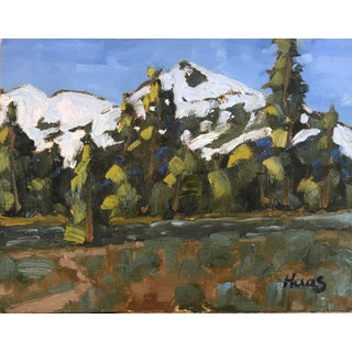 """""""Hope Valley Snow"""" Original Oil Painting by Haas For Sale"""