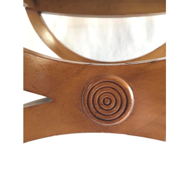 Vintage Oak Vanity Seat - Image 4 of 5