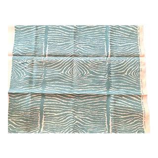 Brunschwig and Fils Le Zèbre Linen Fabric - Aqua For Sale