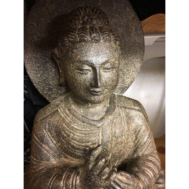 Granite Sitting Buddha, India, Early 1900s For Sale In Nantucket - Image 6 of 10