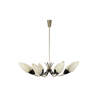Mid-Century Modernist Blossom Form Sputnik Chandelier By Stilnovo For Sale