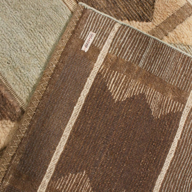 2010s Rug & Kilim's Scandinavian-Inspired Geometric Gray and Blue Wool Pile Rug For Sale - Image 5 of 6