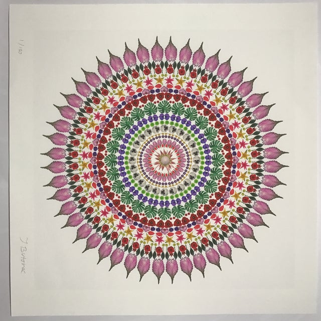 "Paper ""Flower Mandala"" Print For Sale - Image 7 of 9"