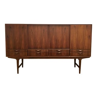 Vintage Mid-Century Danish Modern Rosewood Console/Credenza on Stand For Sale