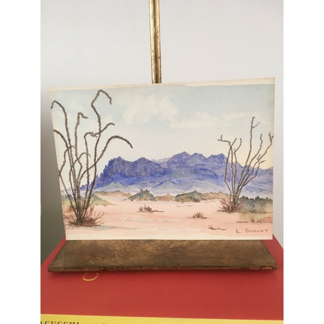 Vintage Desert Watercolor Painting For Sale In Los Angeles - Image 6 of 6