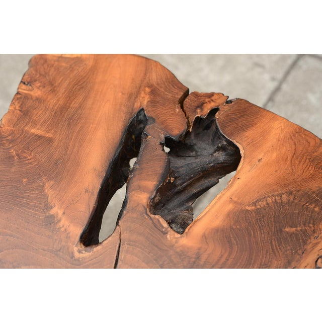 Contemporary Mid Century Modern Live Edge Coffee Table With Hairpin Legs For Sale - Image 3 of 10