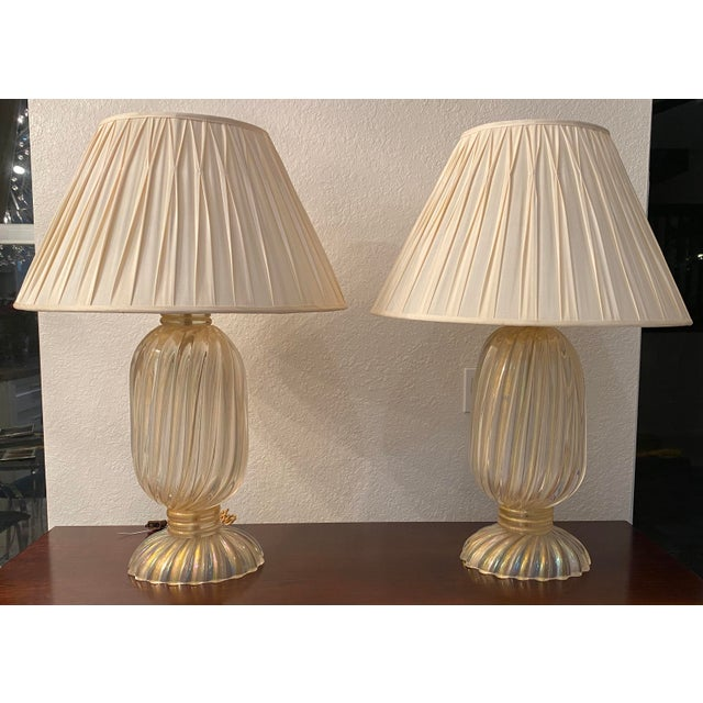 20th Century Murano Table Lamps, Italian Lamps by Barovier & Toso For Sale - Image 12 of 12