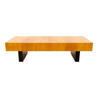 Vintage Mid Century Clausen and Sons Style Bench Coffee Table For Sale