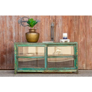 Scandinavian Country Green Display Cabinet Preview