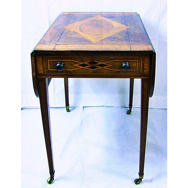 Late 18th Century 18c Sheraton Period George III Pembroke Table For Sale - Image 5 of 7