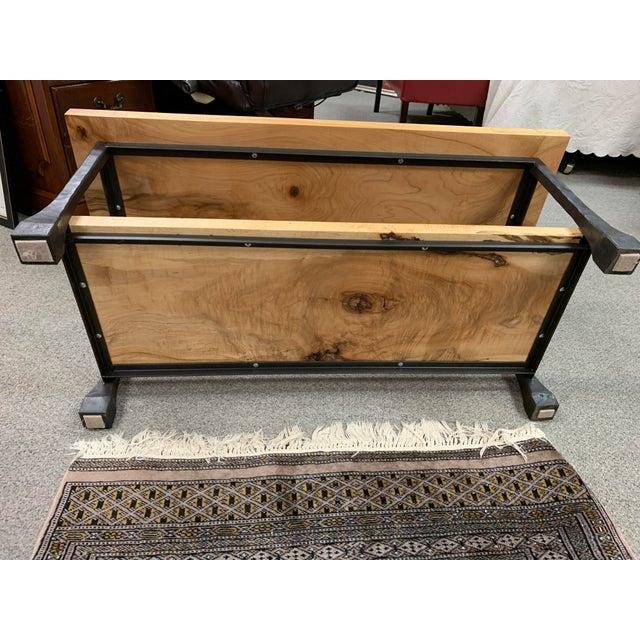 Industrial Restoration Hardware Knotty Wood & Iron Coffee